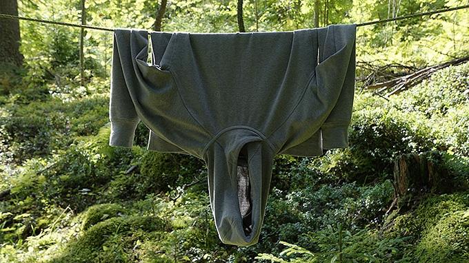 Vaatteet pyykkinarulle kuivumaan