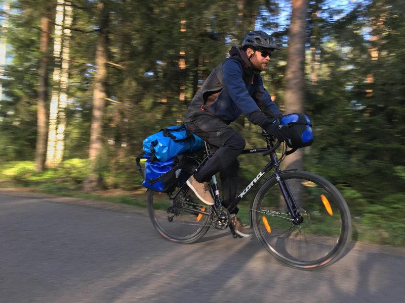 Harjoittelua pyöräreissua varten