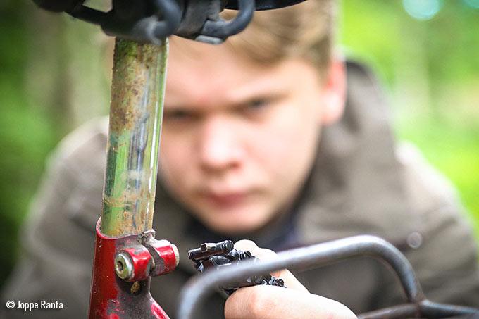 Polkupyörän korjausta Treadilla