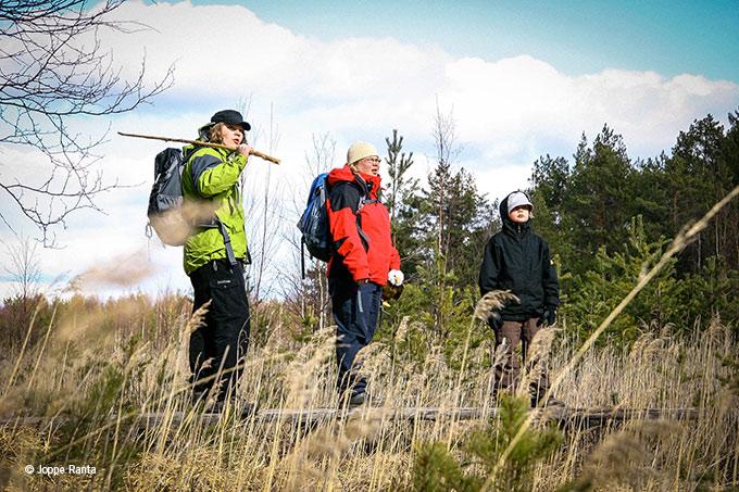 Perheen voimin Teijossa, joka nykyisin on kansallispuisto.