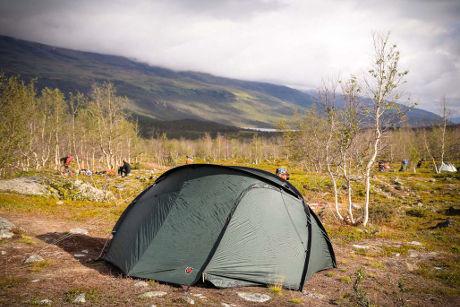Lähes täydellinen paikka teltalle