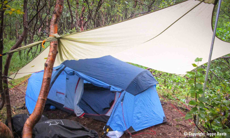 Pikku teltta Kebnekaise