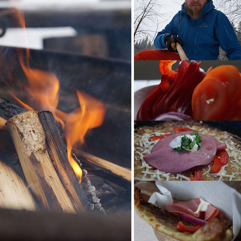 Gourmet-ruokaa talviretkellä