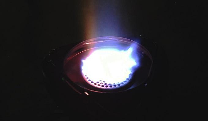 Tässä Primus Winter Gas palaa -20 °C pakkasessa