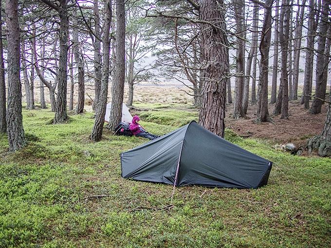 Teltta Skotlannin reissulla