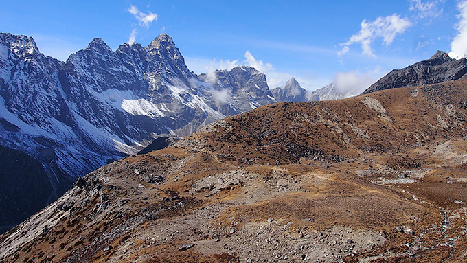 Himalajan vuoristomaisemaa