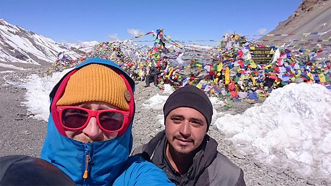 Voitokas selfie Annapurna Circuitilla