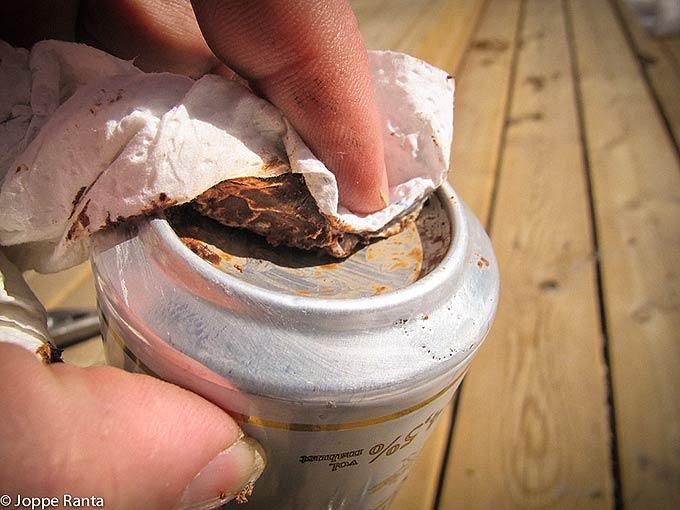 Tölkin pohjasta valmistettu tulipeili