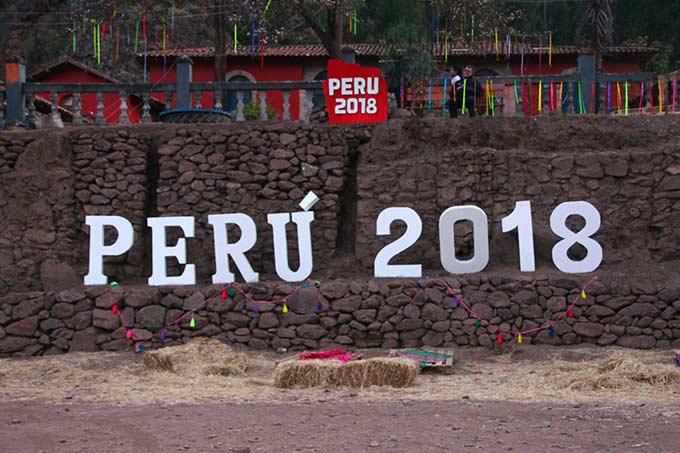 Kyltti Perun partiolaisleirissä
