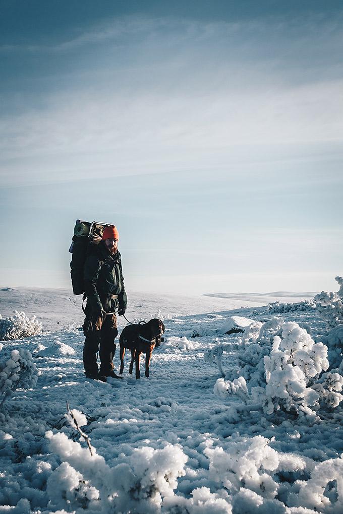 talvivaellus koiran kanssa
