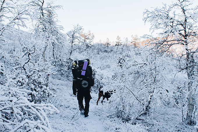 talvivaellus kävellen