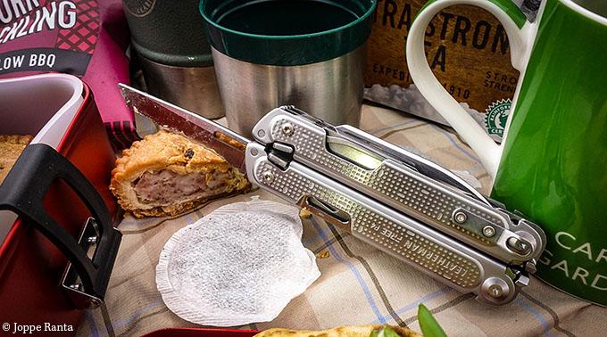 Sahalaitainen veitsi on hyvä leipäveitsi