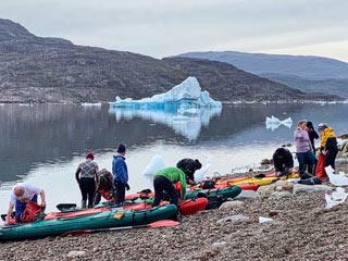kajakkiretki grönlannissa