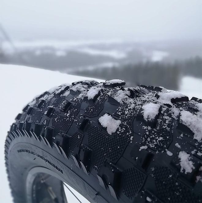 fatbike-pyörän rengaskuvio