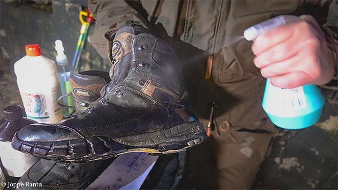 kengän puhdistus
