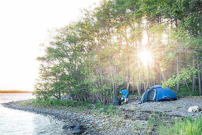 telttailu saaristossa