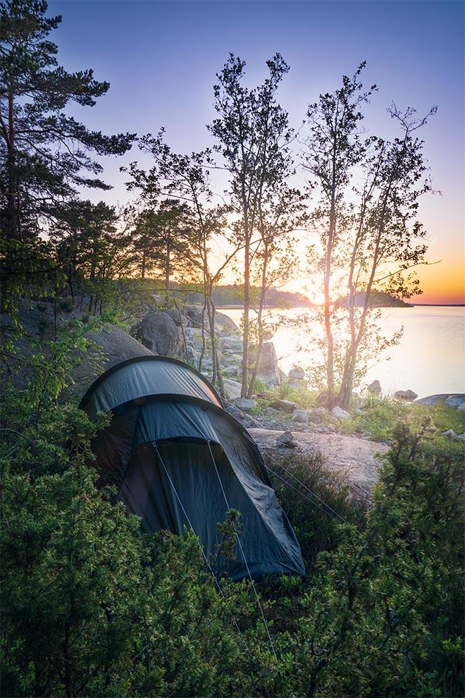 telttailu turun saaristossa